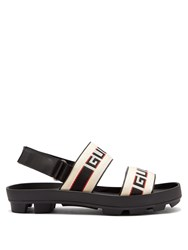 Gucci Stripe Logo Sandals Black Multi