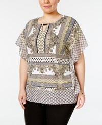 Jm Collection Plus Size Embellished Keyhole Tunic Only At Macy's Samara Scroll