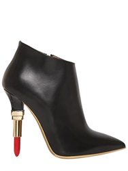 Alberto Guardiani 115Mm Lipstick Leather Ankle Boots
