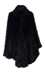 Simone Rocha Black Tinsel Cape