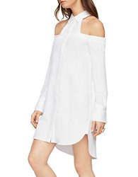 Bcbgmaxazria Rowan Cold Shoulder Shirt Dress Off White