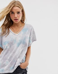 Free People All Mine Tie Dye T Shirt Gray