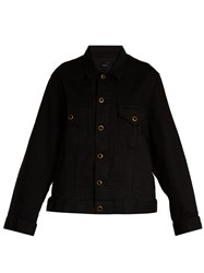 Khaite Cate Oversized Denim Jacket Black