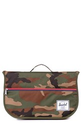 Men's Herschel Supply Co. 'Pop Quiz' Messenger Bag Green Woodland Camo