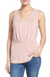 Women's Bobeau Pleat Detail Sleeveless Scoop Back Top