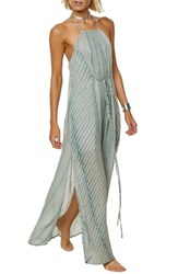 O'neill Lenore Stripe Maxi Dress Capri Breeze