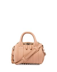 Alexander Wang Mini Rockie Leather Satchel Bag Truffle Silver