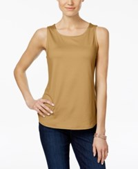 Charter Club Sleeveless Shell Only At Macy's Salty Nut