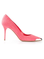 Alexander Mcqueen High Heel Pump Pink And Purple