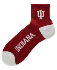 For Bare Feet Indiana Hoosiers Ankle Team Color 501 Socks