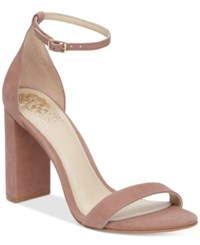 Vince Camuto Mairana High Heel Strappy Sandals Women's Shoes Dusty Rose Nubuck