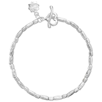 Dower And Hall Caraway Sterling Silver Rice Bracelet