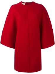 Marni Cape Sleeve Dress Red