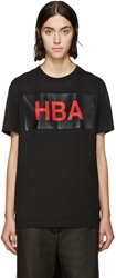 Hood By Air Black And Red Box Logo T Shirt