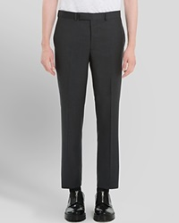 Sandro Mad P Wool Trousers Slim Fit Anthracite