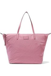 Rebecca Minkoff Woman Leather Trimmed Washed Shell Tote Bubblegum