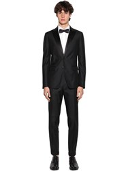 Dsquared London Crystals Silk And Wool Tuxedo Suit Black