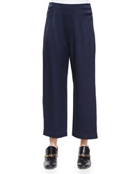 Derek Lam 10 Crosby High Waist Cropped Trousers W Saddle Studs Women's Size 8 Black