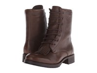 Wolverine Rosie 6 Kiltie Lace Up Taupe Leather Women's Lace Up Boots