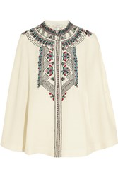Paul And Joe Embroidered Wool Cape