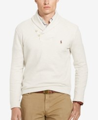 Polo Ralph Lauren Men's Ribbed Shawl Pullover Faded Cream