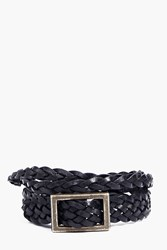 Boohoo Around Buckle Bracelet Brown