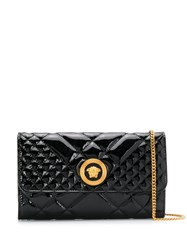 Versace Medusa Head Quilted Clutch Black
