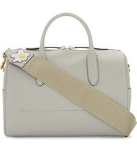 Anya Hindmarch Fried Eggs Leather Bowling Bag Bright Slate