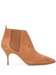 Manolo Blahnik Heeled Ankle Boots Brown