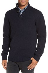 Rodd And Gunn Men's Birkenhead Mock Neck Sweater Navy