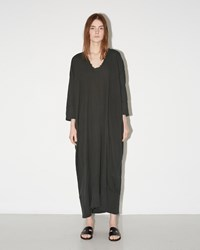 Black Crane Kaftan Dress Grey