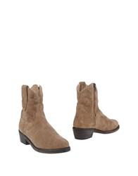 Mr Wolf Mr. Ankle Boots Khaki