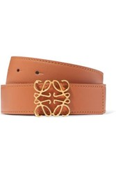 Loewe Embellished Leather Belt Tan