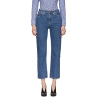 Simon Miller Blue Washed High Rise Jeans