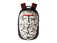 The North Face Borealis Backpack Vintage White Sasquatch Print Cardinal Red Backpack Bags
