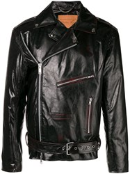Martine Rose Multiple Zips Biker Jacket Black