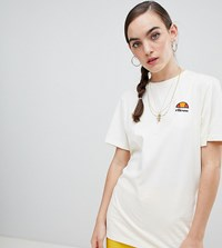 70e6662f7a3d Ellesse Oversized Boyfriend T Shirt With Washed Out Logo Cream