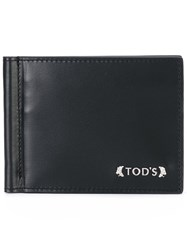Tod's Billfold Wallet Men Calf Leather One Size Black