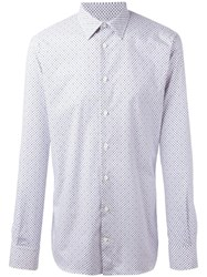 Alexander Mcqueen Micro Skull And Floral Print Shirt White