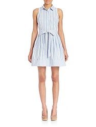 Milly Breton Striped Shirt Dress Blue