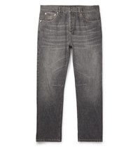 Brunello Cucinelli Slim Fit Selvedge Denim Jeans Gray
