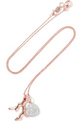 Monica Vinader Rose Gold Vermeil Diamond Necklace One Size