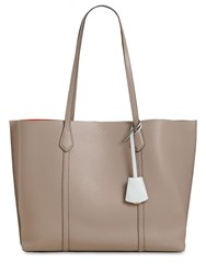 Tory Burch Perry Multicolor Leather Tote Bag Grey