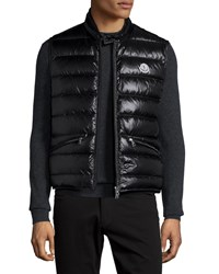 Moncler Lightweight Puffer Down Vest Black