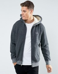 Abercrombie And Fitch Zipfront Hoodie Borg Lined In Heather Grey Heather Grey