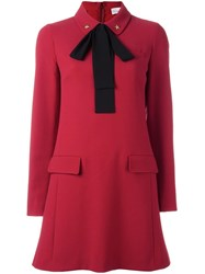 Red Valentino Bow Tie Dress Red