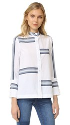 Derek Lam Bell Sleeve Button Down Shirt Soft White