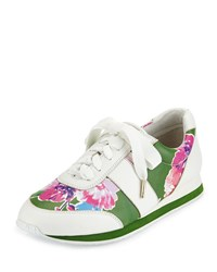 Kate Spade Sidney Floral Print Trainer Lucky Green Women's