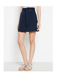 Whistles Mini Belted Skirt Navy