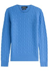 Polo Ralph Lauren Cashmere Cable Knit Pullover Blue